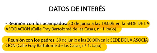 datos de interés